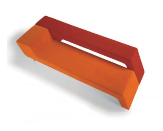 divanetto colorato afrodite a due posti per lounge e sale attesa